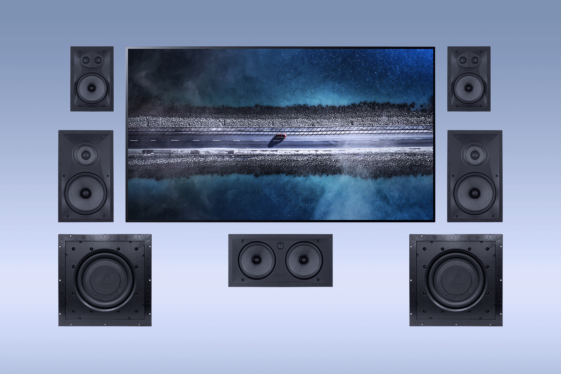 Sonance Visual Performance In-Wall Home Cinema System